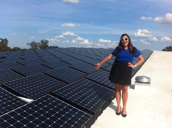 Ballasted Solar Panel Installation